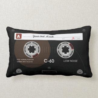 Old Retro Music Cassette MixTape Throw Pillow