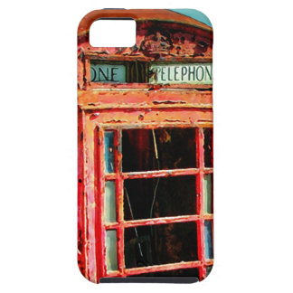Old Retro Rustic Telephone booth iPhone 5 Covers
