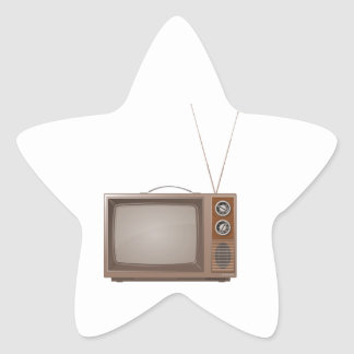 Old Retro TV Star Sticker
