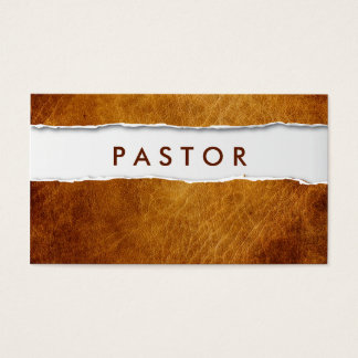 Old Ripped Paper Pastor Business Card