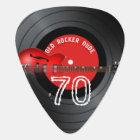 Old Rocker Dude Guitar Record 70th Birthday Guitar Pick