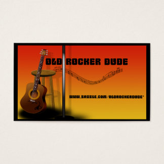 Old Rocker Dude Profile Card