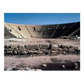 Old Roman amphitheatre, Caesaria, Israel Postcard
