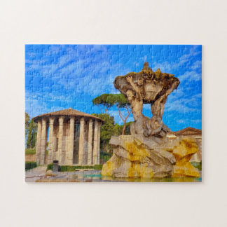 Old Roman Temple in Rome. Jigsaw Puzzle