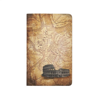 Old Rome Map and Colosseum Pocket Journal