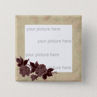 Old Rose Parchment Look Photo Button
