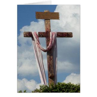 Old Rugged Cross Jesus Easter Resurrection Card