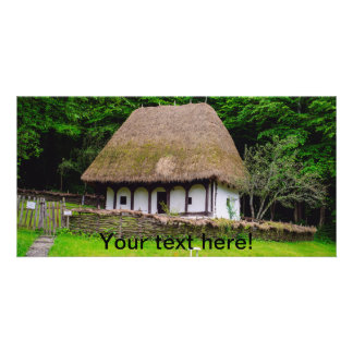 Old rural house personalized photo card