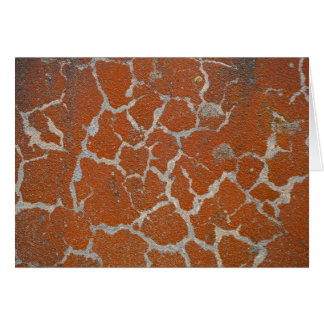 Old russet color on concrete card