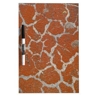 Old russet color on concrete dry erase board