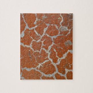 Old russet color on concrete jigsaw puzzle