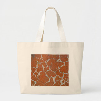 Old russet color on concrete large tote bag