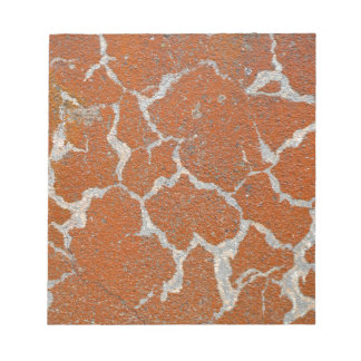 Old russet color on concrete notepads