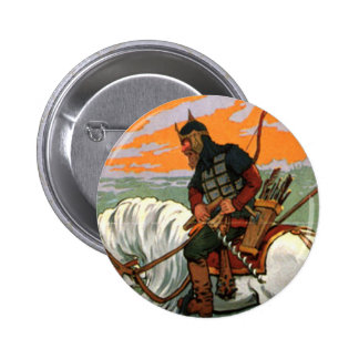 Old Russian Riding a Horse 2 Inch Round Button