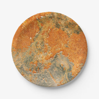 Old Rusted Corroded Iron Metal 7 Inch Paper Plate