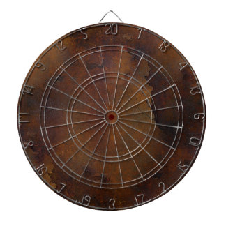 Old Rusted Look Dart Board