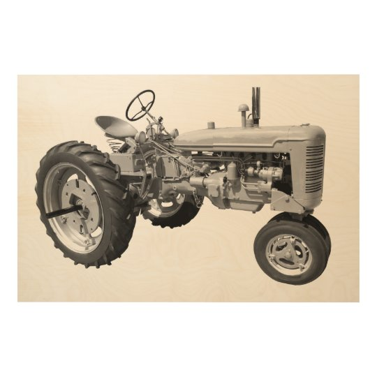 Old rustic tractor wood prints