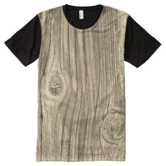 Old Rustic Wood All-Over-Print T-Shirt