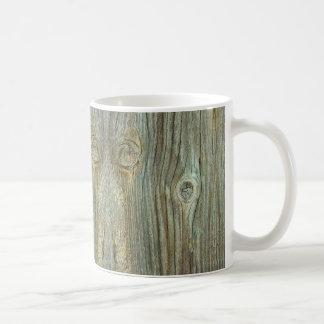 Old Rustic Wood Coffee Mug