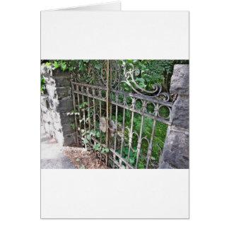 Old rusty gate card