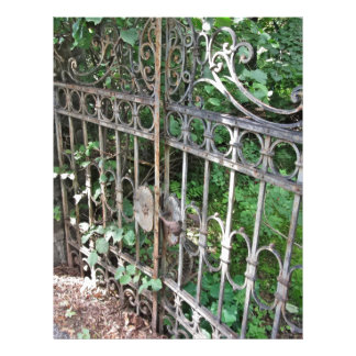 Old rusty gate letterhead