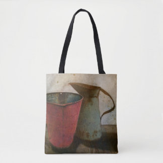 old Rusty Milk Pitcher and Pail Tote Bag