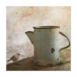 old Rusty Milk Pitcher Canvas Print