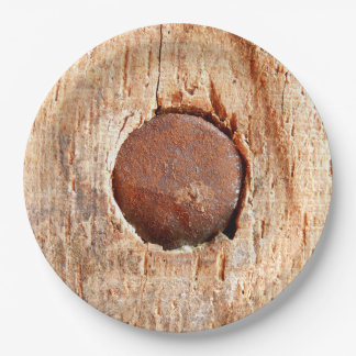 Old Rusty Nail Paper Plate
