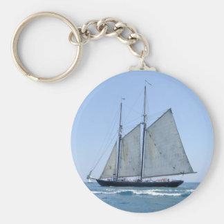 Old Sail boat Keychain