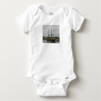 Old sailing ship, Amsterdam, Holland Baby Onesie