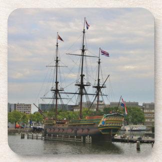 Old sailing ship, Amsterdam, Holland Coaster