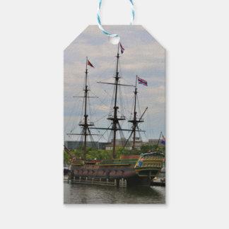 Old sailing ship, Amsterdam, Holland Gift Tags