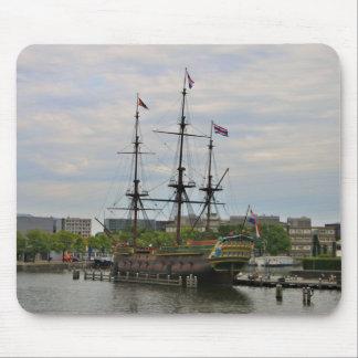 Old sailing ship, Amsterdam, Holland Mouse Pad