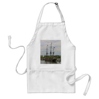 Old sailing ship, Amsterdam, Holland Standard Apron