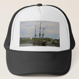 Old sailing ship, Amsterdam, Holland Trucker Hat