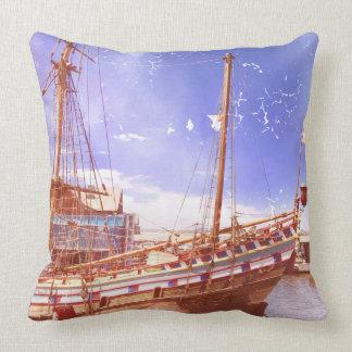 Old Sailing Ship Throw Pillow