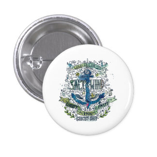 Old Sailor Anchor Poster 1 Inch Round Button