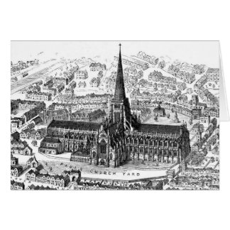 Old Saint Paul's Cathedral, circa 1555 Card