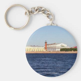 Old Saint Petersburg Stock Exchange Basic Round Button Keychain