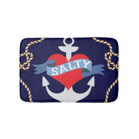 Old Salt Anchor Boat Captain Bath Mat