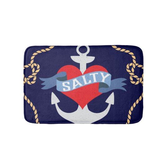 Old Salt Anchor Boat Captain Bathroom Mat