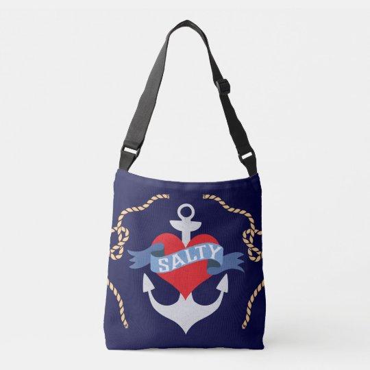 Old Salt Anchor Boat Captain Crossbody Bag