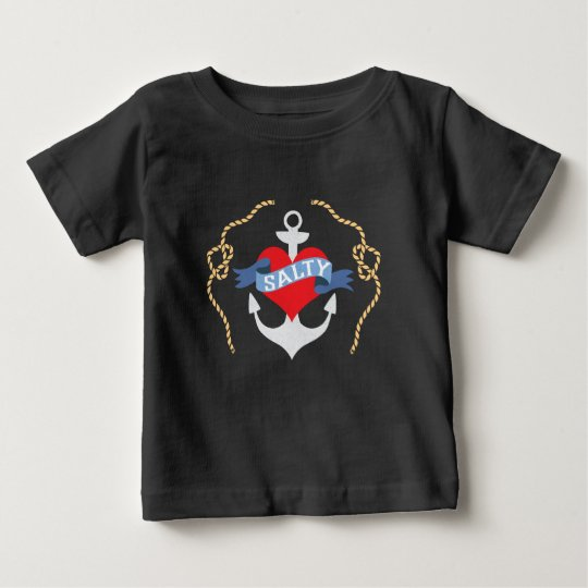 Old Salt Heart and Anchor Nautical Baby T-Shirt