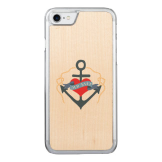 Old Salt Ship Anchor and Heart Carved iPhone 7 Case