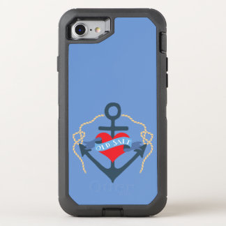 Old Salt Ship Anchor and Heart OtterBox Defender iPhone 7 Case