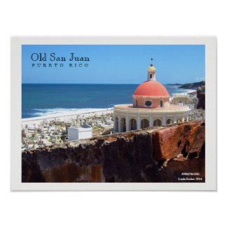 Old San Juan By The Sea Poster