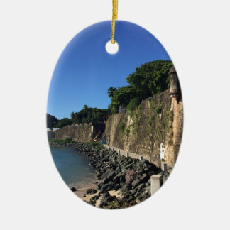 Old San Juan Historical Site Ceramic Ornament