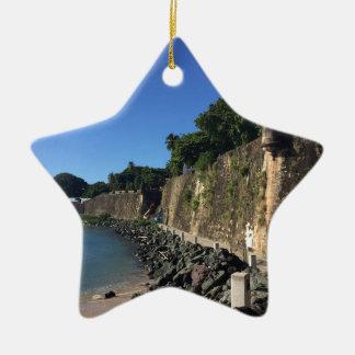 Old San Juan Historical Site Ceramic Star Ornament