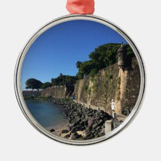 Old San Juan Historical Site Metal Ornament