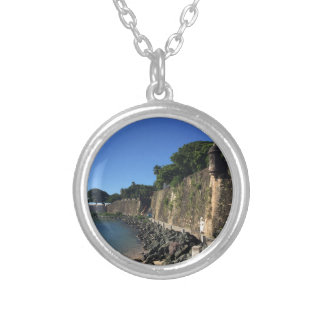 Old San Juan Historical Site Silver Plated Necklace